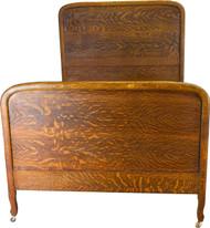 17265 Tiger Sawn Oak Full Size Antique Bed