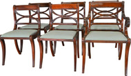 17413 Set of 6 Empire Style Mahogany Chairs by Drexel