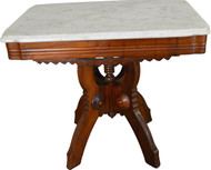 17496 Marble Top Victorian Coffee Table