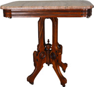 17498 Victorian Marble Top Parlor Stand