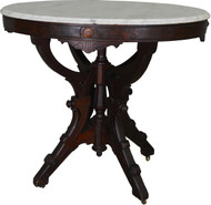 17481 Oval Victorian Marble Top Parlor Stand