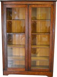 17555 Oak Larkin Two Door Victorian Bookcase
