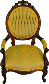 17574 Victorian Rose Carved Arm Chair
