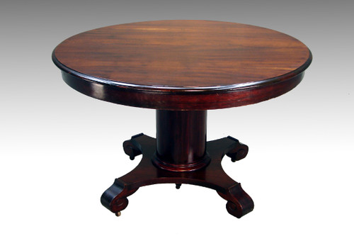 "Image 1 - SOLD Antique Mahogany 48"" Empire Dining Table - Maine Antique Furniture"