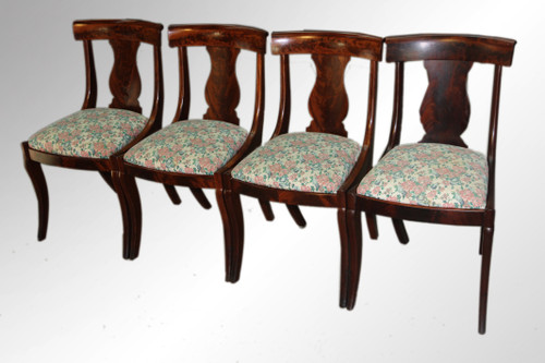 Image 1 - SOLD Antique Set Of Four Period Empire Dining Chairs - Maine Antique