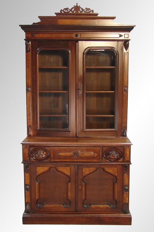 ... SOLD Antique Victorian Walnut Butler's Secretary Desk. Image 1 - SOLD Antique Victorian Walnut Butler's Secretary Desk - Maine