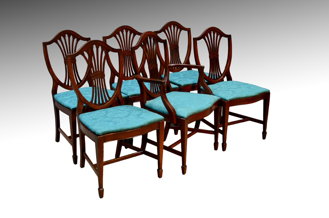 Fantastic Sold Vintage Set Of 6 Six Formal Hepplewhite Dining Room Kitchen Chairs Beutiful Home Inspiration Ommitmahrainfo