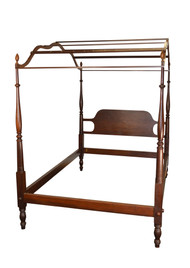 SOLD  Vintage Mahogany Country Style Period Type Canopy Bed Full Size