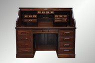 """SOLD Antique Victorian Raised Panel 60"""" Roll Top Desk / Lawyers / Bankers"""
