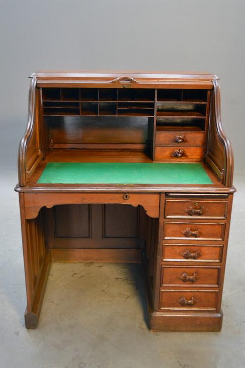 Image 1 - SOLD Antique Victorian Ladies Roll Top Desk - Civil War Era