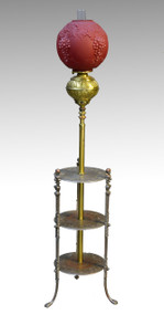 16925 Antique Victorian Piano Lamp