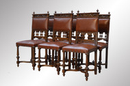17285 Set of 6 Walnut Chairs
