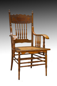 SOLD Victorian Press Back Office Desk Chair