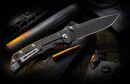 Spartan Harsey Folder in Black PVD finish. Right Side View