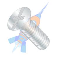 8-32 x 3/8 Combination (Phil/Slot) Flat Head Machine Screw Fully Threaded Zinc