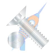 1/4-20 x 3/8 6 Lobe Flat 100 Degree Machine Screw Fully Threaded Zinc