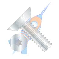 1/4-20 x 3/4 6 Lobe Flat Undercut Machine Screw Fully Threaded Zinc