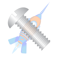 1/2-13 x 1-3/4 Slotted Round Machine Screw Fully Threaded 18-8 Stainless Steel
