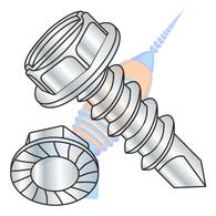 1/4-14 x 1-1/2 A/F.428-.437 HD Hgt.172-.190 Slot Indhxwash Serrate Self Drill Full Thread Zinc