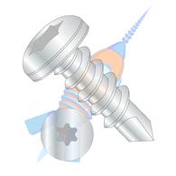 1/4-14 x 1-1/2 6 Lobe Pan Self Drilling Screw Fully Threaded Zinc
