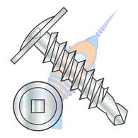 1/4-14 x 1 Square Drive Modified Truss Head Self Drilling Screw Full Thread Zinc