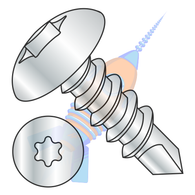 1/4-14 x 1 6 Lobe Truss Self Drilling Screw Fully Threaded Zinc