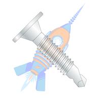 1/4-20 x 3/4 Phil Wafer Head #3 Point Self Drill Screw Machine Screw Thd Full Thread Zinc