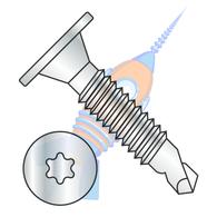 10-24 x 1-1/2 6 Lobe Wafer Head Self Drilling Screw Machine Screw Thread F/T Zinc