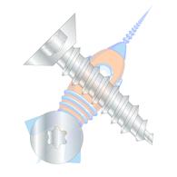 1/4-14 x 1/2 Six Lobe Flat Undercut Self Tapping Screw Type A B Fully Threaded Zinc