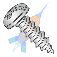 10-12 x 1-1/2 Combination (slot/phil) Pan Self Tap Screw Type A Full Thread 18 8 Stainless Ste