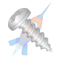 1/4-14 x 1-1/4 Phillips Pan Self Tapping Screw Type A B Fully Threaded 18-8 Stainless Steel