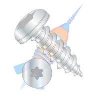 1/4-14 x 1-1/4 6 Lobe Pan Self Tapping Screw Type A B Fully Threaded Zinc