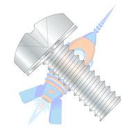 M2-0.4 x 10 ISO 7045 Phillips Pan Split Washer Sems Machine Screw Full Thread Zinc