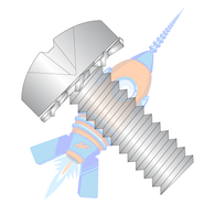 1/4-20 x 1 Phillips Pan External Sems Machine Screw Fully Threaded 18-8 Stainless Steel