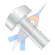 1/4-20 x 1/2 Phillips Pan External Sems Machine Screw Fully Threaded Zinc