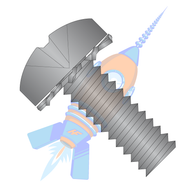 1/4-20 x 1 Phillips Pan External Sems Machine Screw Fully Threaded Black Zinc
