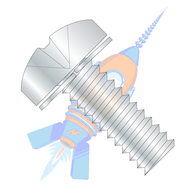 1/4-20 x 1-1/4 Phillips Pan Split Lock Washer Sems Fully Threaded Zinc