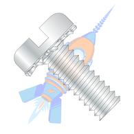 1/4-20 x 1-1/4 Slotted Pan External Sems Machine Screw Fully Threaded Zinc