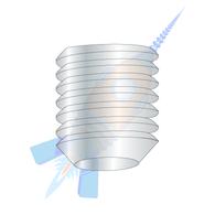 0-80 x 1/4 Fine Thread Socket Set Screw Cup Point Plain Imported