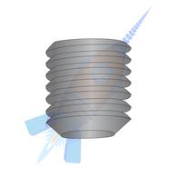 1/4-20 x 2 Coarse Thread Socket Set Screw Flat Point Plain Imported