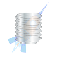 1/4-28 x 3/8 Fine Thread Socket Set Screw Flat Point Plain Imported