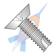 1/4-20 x 1-1/4 Phillips Flat Undercut Thread Cutting Screw Type 23 Fully Thrd 18 8 Stainless
