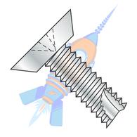 1/4-14 x 1/2 Phillips Flat Undercut Thread Cutting Screw Type 25 Fully Threaded Zinc