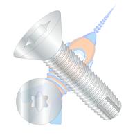 1/4-20 x 1 Six Lobe Flat Thread Cutting Screw Type F Fully Threaded Zinc
