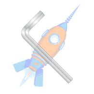 M12 Metric Hex Key Wrench Short Arm Plain