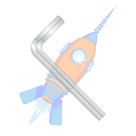 M8 Metric Hex Key Wrench Short Arm Plain