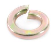 #2 Medium Split Lock Washer Zinc Yellow