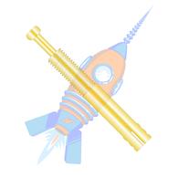 1/4 x 1-3/4 Expansion Pin Anchor Zinc Yellow