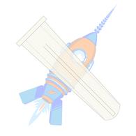 6-8 x 3/4 Conical Plastic Anchor Blue #6 Diameter