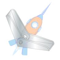 3/8-16 Toggle Wing Zinc